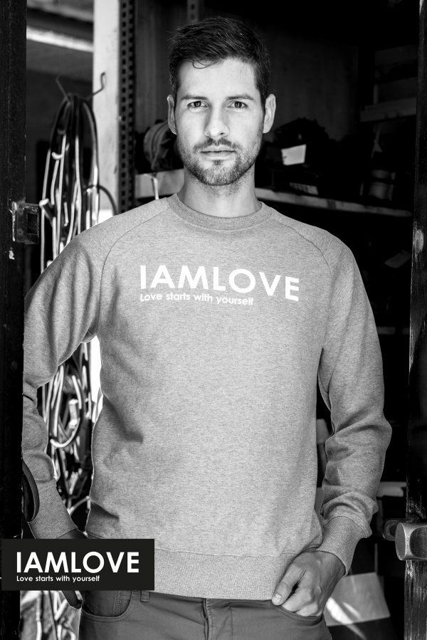 Organic Fairtrade grey Men's sweater