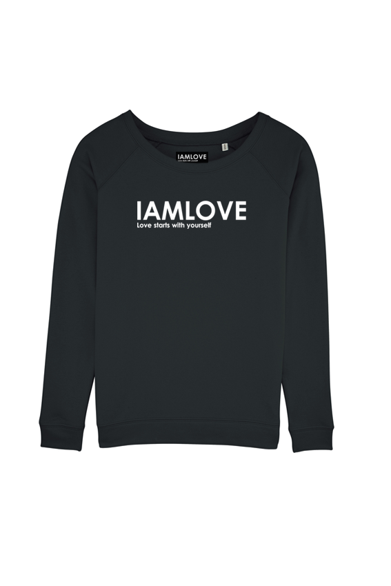 women's Iamlove sweater black