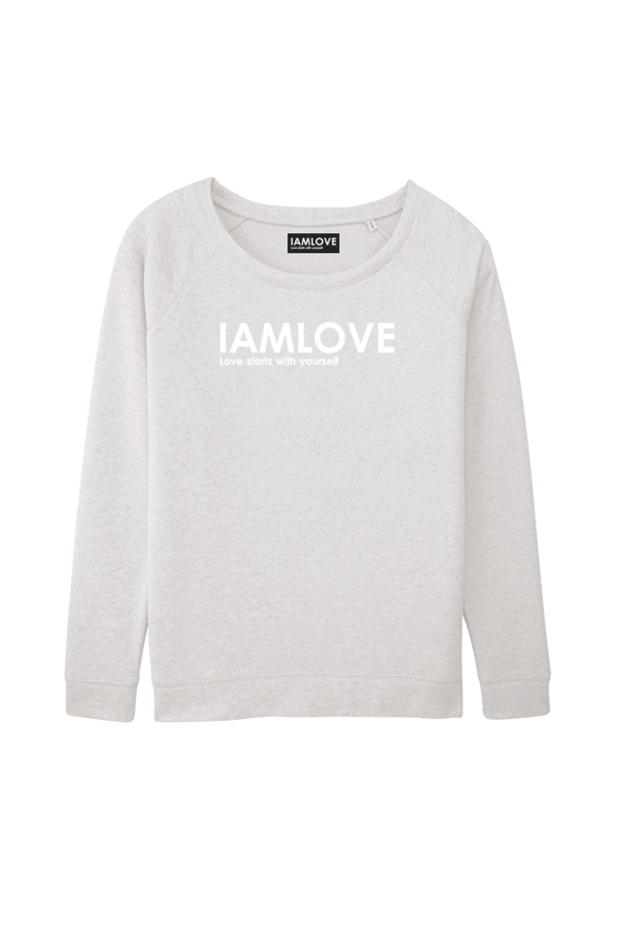 IAMLOVE sweater cream grey
