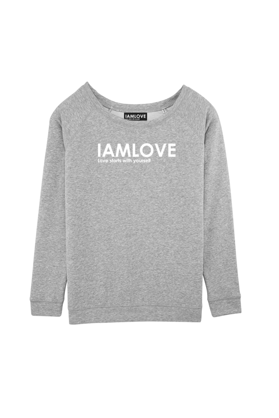 women's IAMLOVE sweater grey