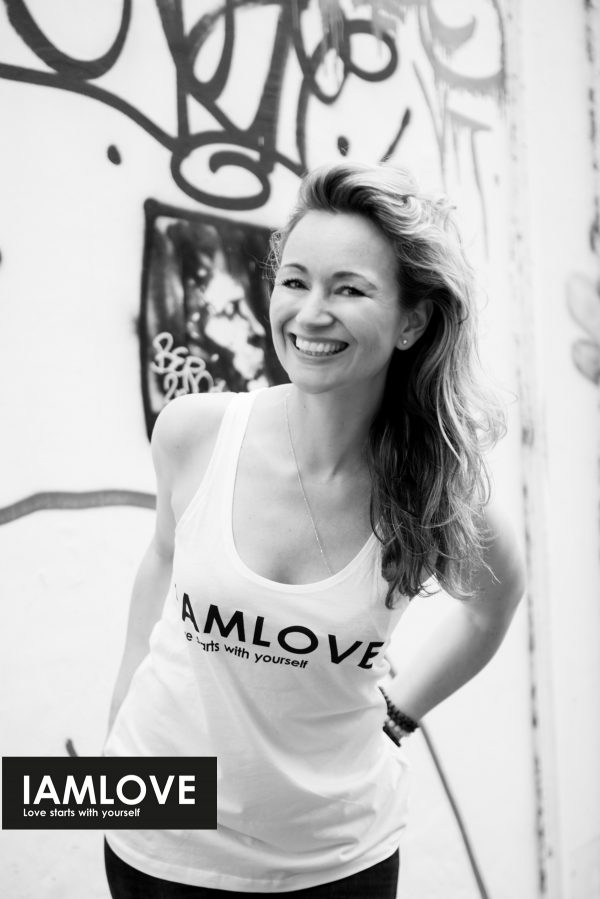 IAMLOVE white Tanktop, organic and fairtrade