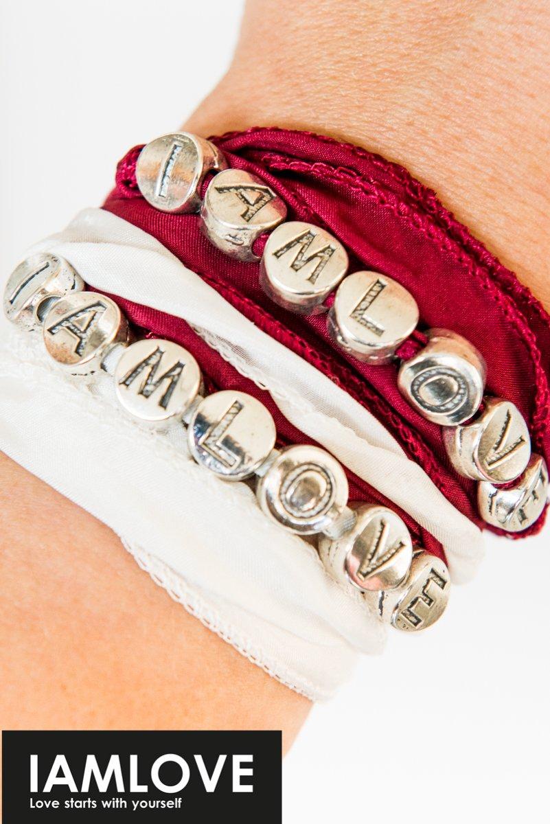 Silk Wrap Bracelet Iamlove
