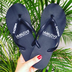 Like Havaianas but different, IAMLOVE flipflops