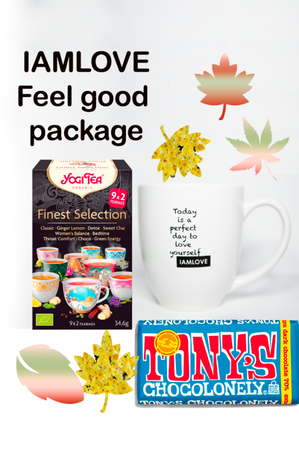 IAMLOVE feel good package, tony chocolonely pure