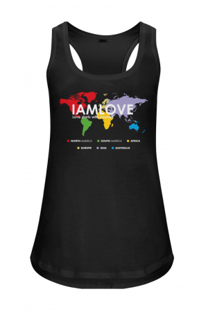 Tanktop with printed globe by IAMLOVE