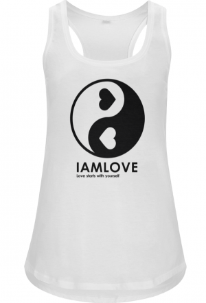 Yin Yang Shabamm tanktop white for Women by IAMLOVE, ethical fashion, organic, fairwear