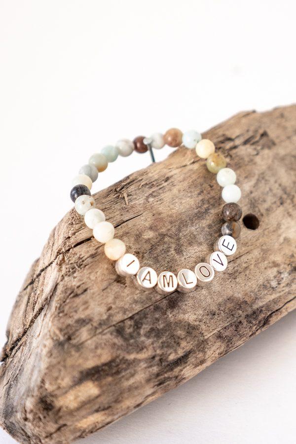 Emotional detox bracelet van amazoniet kralen van IAMLOVE
