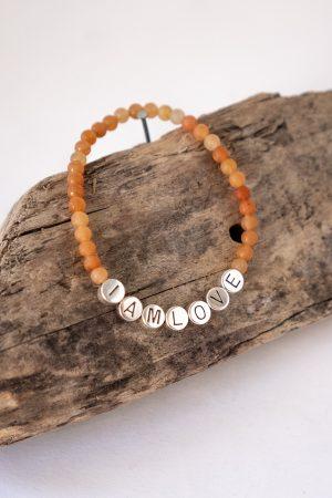 opening up bracelet, orange Yellow aventurine bracelet by IAMLOVE