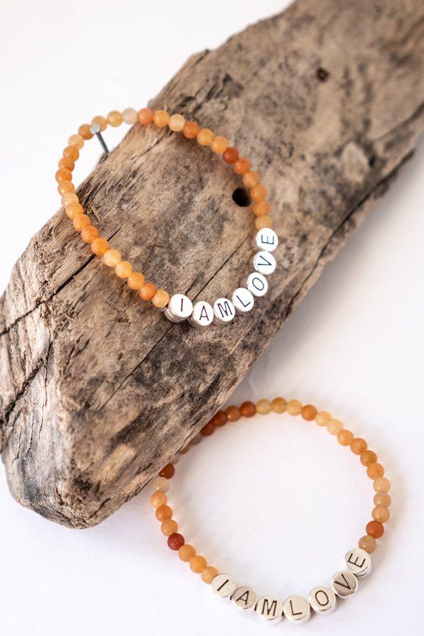 empowerment bracelet aventurijn kralen armband van IAMLOVE