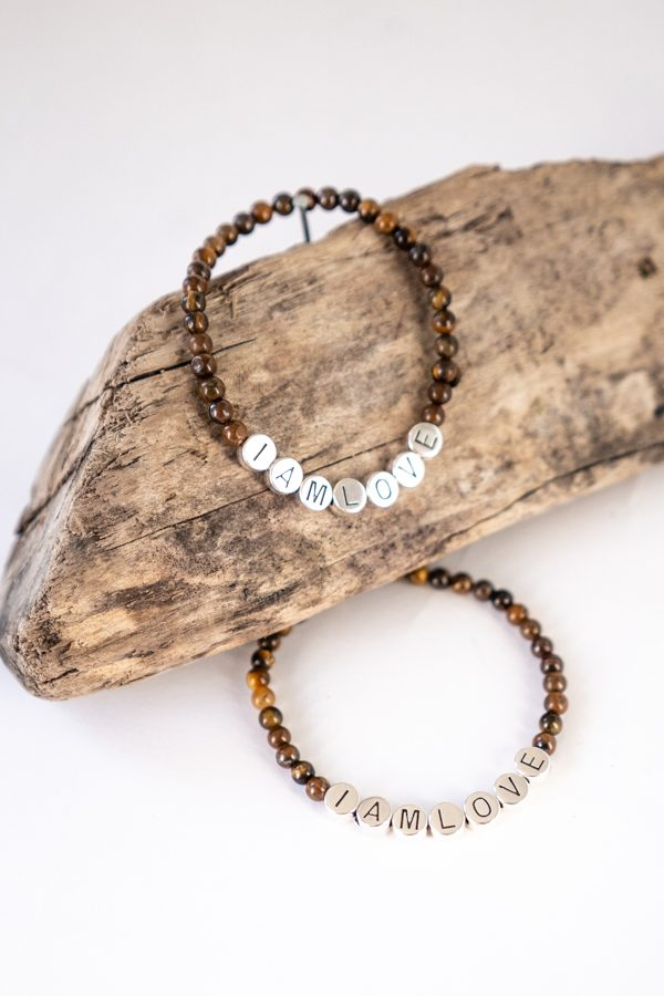 What if you fly bracelet made of tiger eye gemstones by IAMLOVE