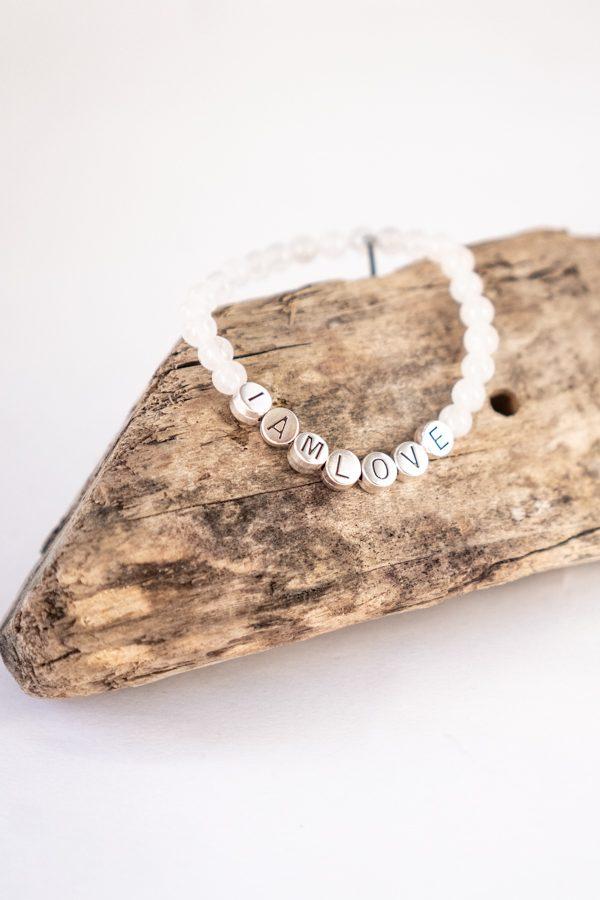 Witte jade harmony bracelet van IAMLOVE