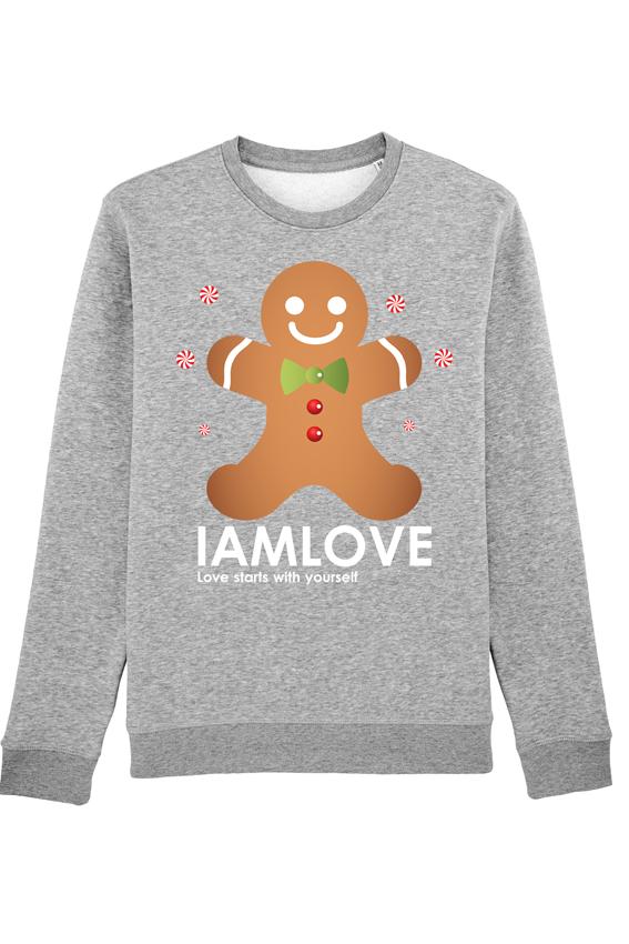 Kersttrui Man Xxl.Iamlove Cookie Sweater Organic Fairwear Kersttrui In Rood Zwart