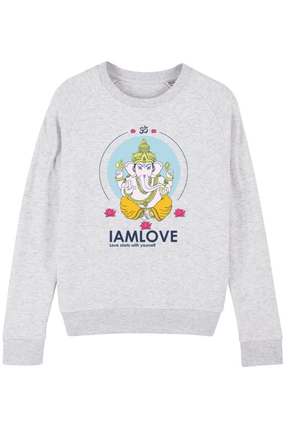 It;s me Ganesha sweater heather ash
